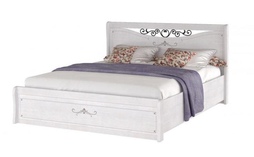 Кровати: Кровать двуспальная с ковкой Афродита (1400, орт. осн. дерево) в Стильная мебель