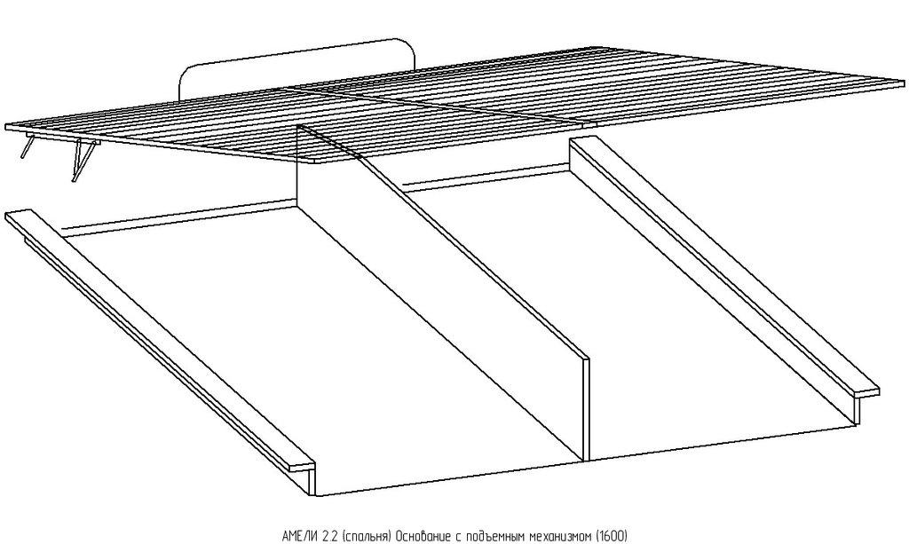 Кровати: Кровать АМЕЛИ 2 (1600, мех. подъема) в Стильная мебель