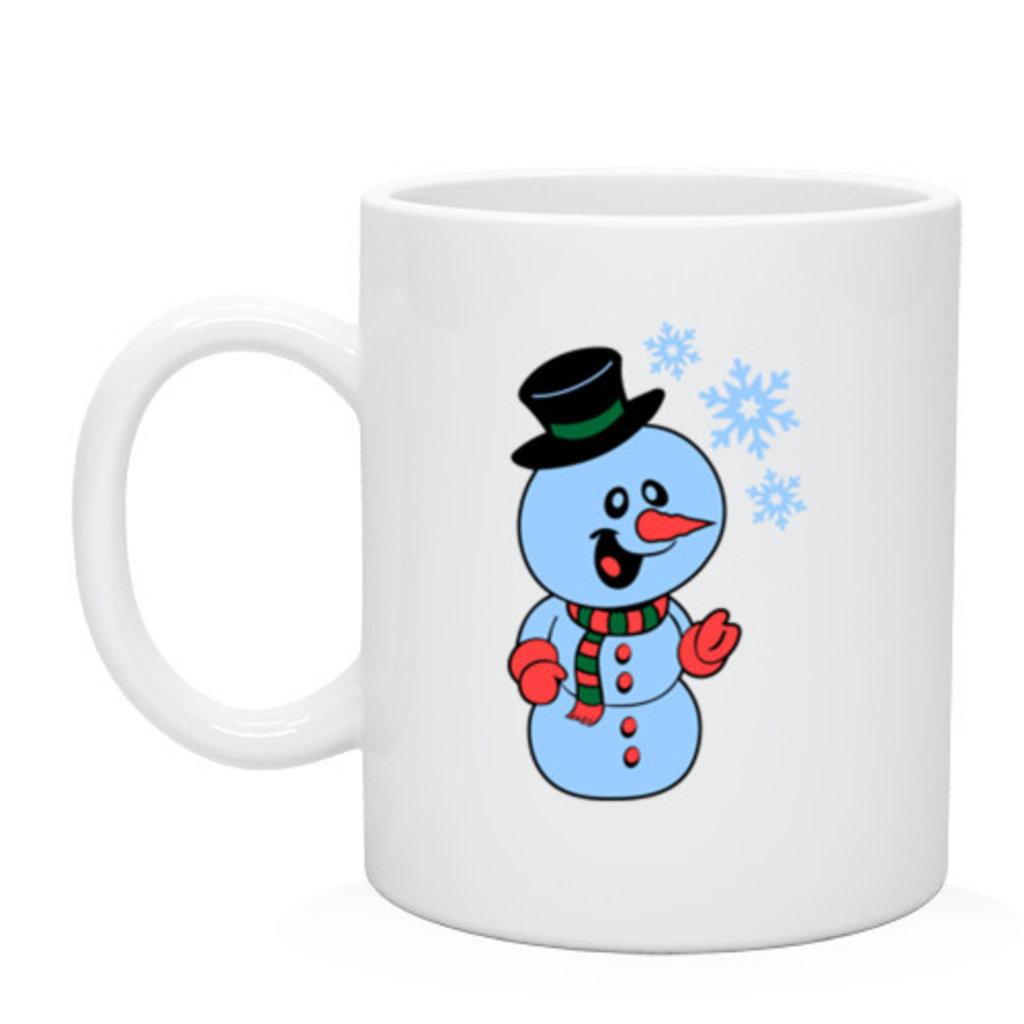 """Выбери готовый дизайн для любой кружки-заготовки: Кружка """"Снеговик"""" в NeoPlastic"""