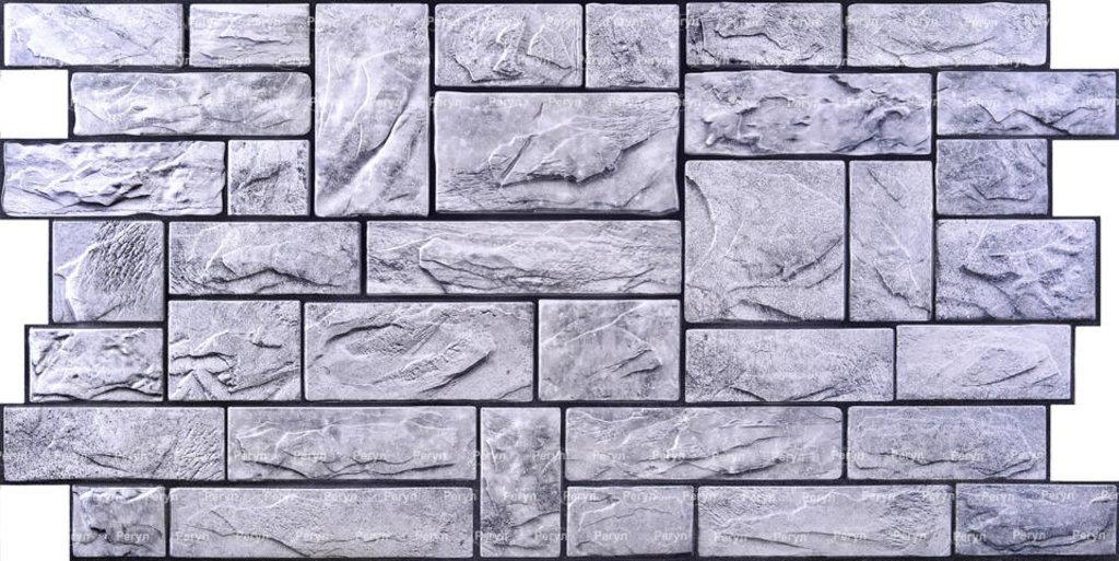 Панели ПВХ: Камень Пиленый настоящий серый в Мир Потолков