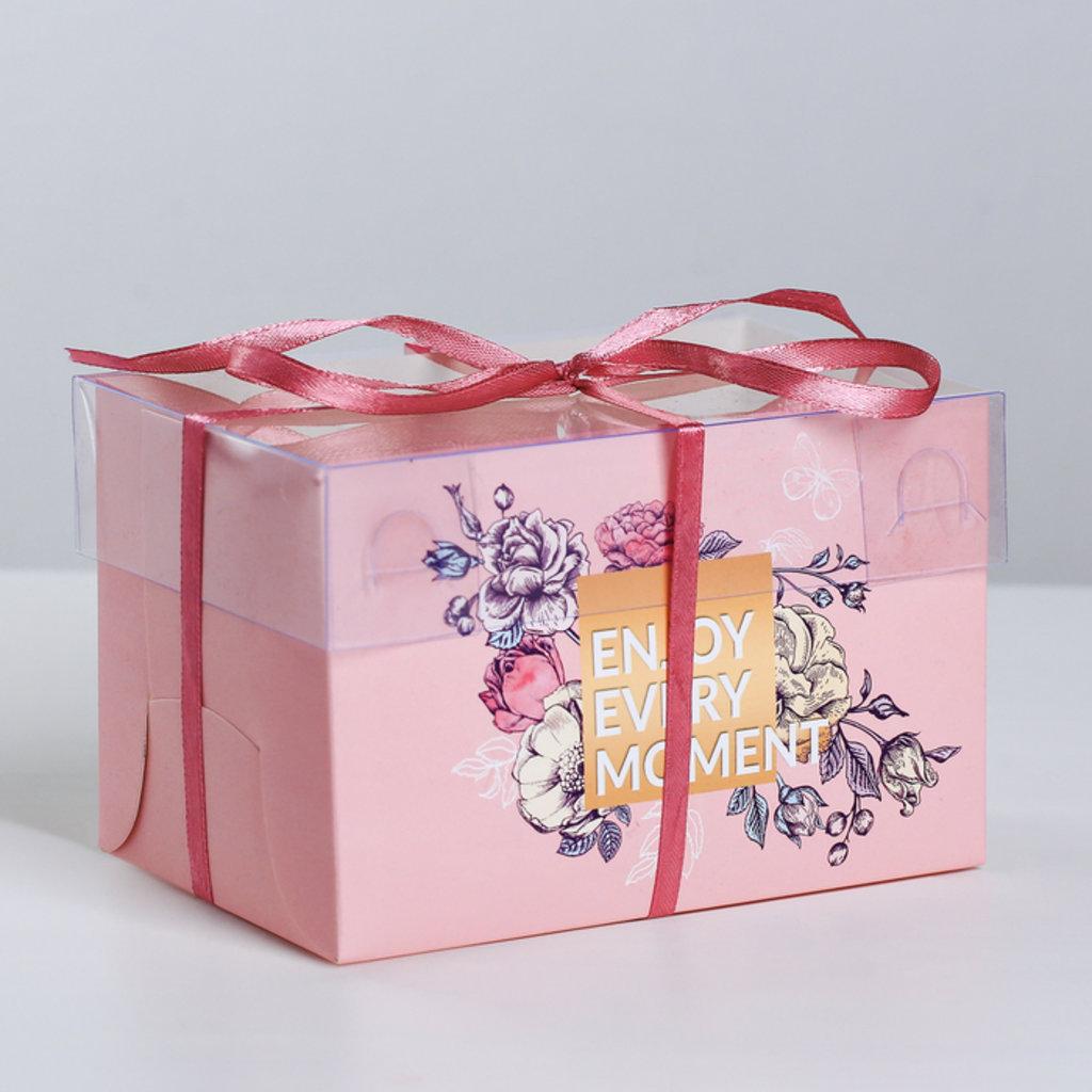 Коробки для капкейков: Коробка для капкейков Enjoy every moment, 16 × 8 × 10 см в ТортExpress