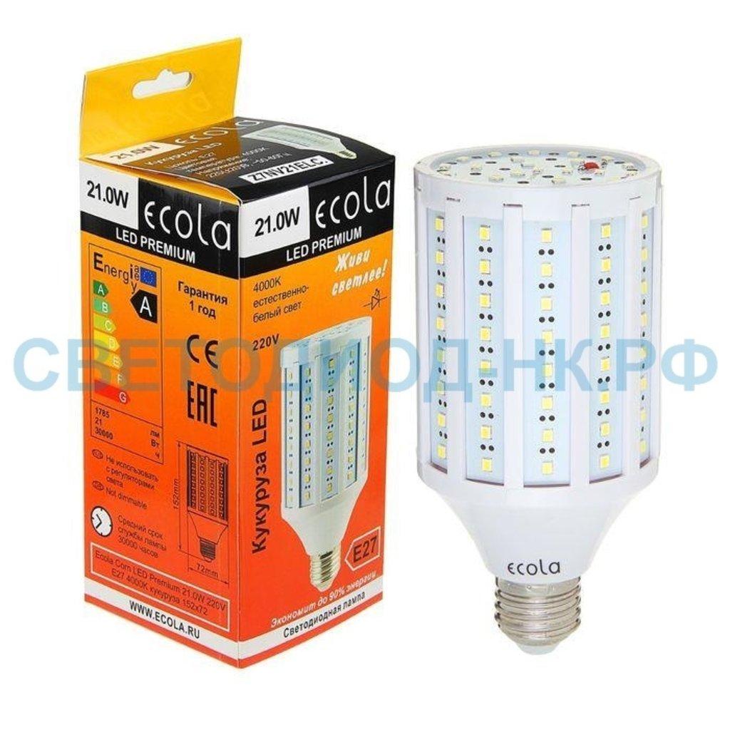 Цоколь Е27: Светодиодная лампа Ecola кукуруза E27 21W 4000K 4K 152x72 Premium Z7NV21ELC в СВЕТОВОД