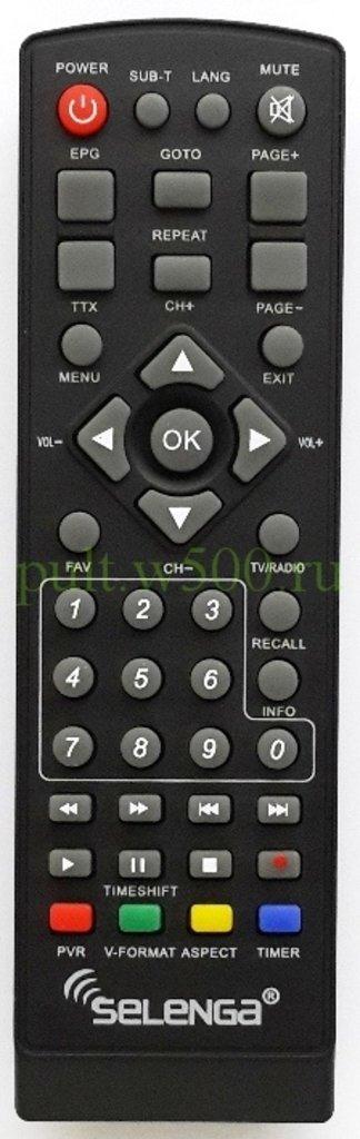 SELENGA: Пульт SELENGA T30, T71, T71D, Т80, HD850, HD920 (DVB-T2) оригинал в A-Центр Пульты ДУ