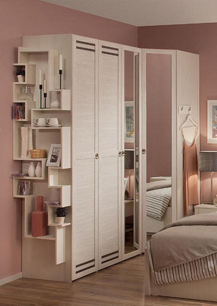 Шкафы для спальни: Шкаф угловой Бриз 56 (Зеркало) в Стильная мебель