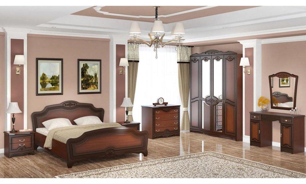Спальный гарнитур Лотос: Тумба прикроватная Лотос 2 ящика в Уютный дом