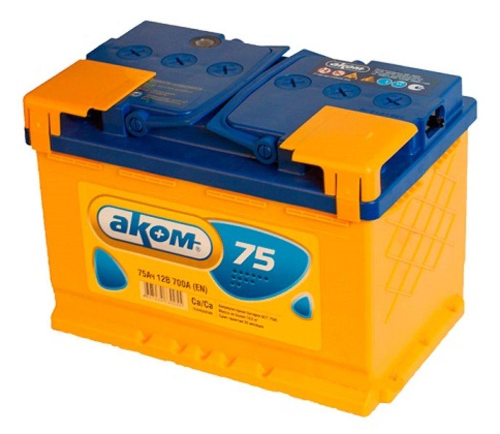 AКОМ: Аккумулятор AКОМ 6 СТ- 75 в БазаАКБ
