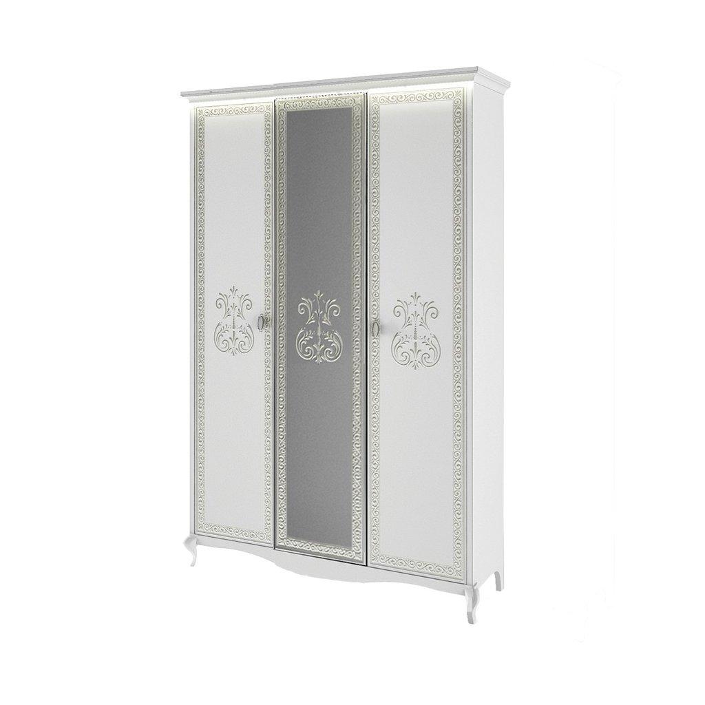 Шкафы для спальни: Шкаф 3-дверный Винтаж белый в Стильная мебель