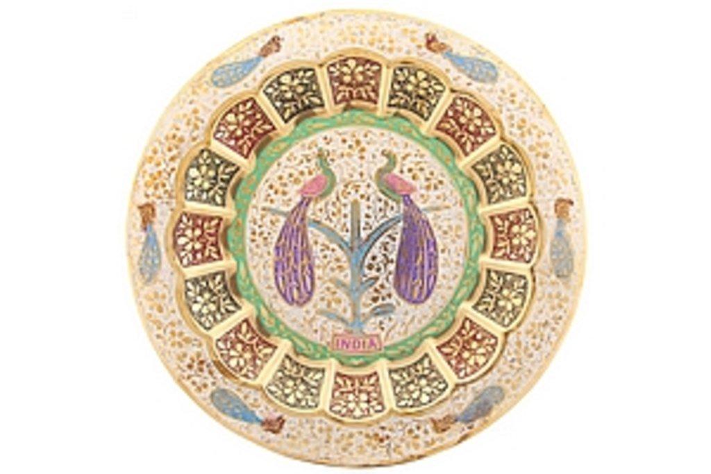 """Панно, картины: Панно- тарелка декоративная """"Павлины"""" в Шамбала, индийская лавка"""