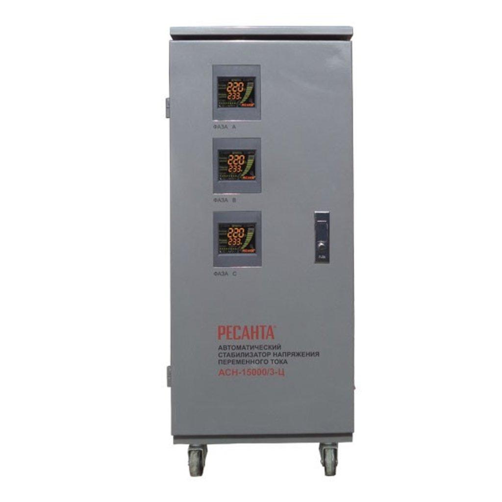 Электронного типа: Трехфазный стабилизатор электронного типа РЕСАНТА АСН-30000/3-Ц в РоторСервис, сервисный центр, ИП Ермолаев Д. И.