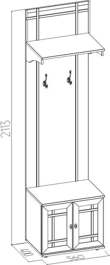 Мебель для прихожих, общее: Вешалка Sherlock 74 в Стильная мебель