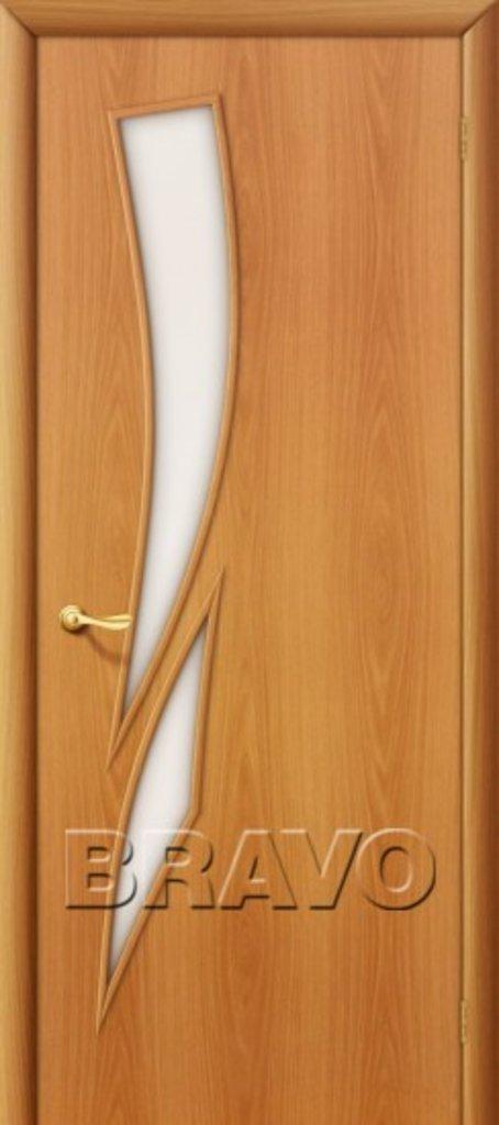 Двери ламинированные BRAVO: 8С Л-12 (МиланОрех) в STEKLOMASTER