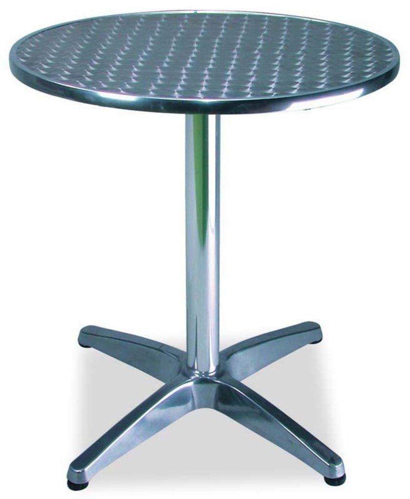 Столы для летних кафе, ресторанов: Стол алюминиевый D-600 мм. 1201DP (регулируемый по высоте) в АРТ-МЕБЕЛЬ НН