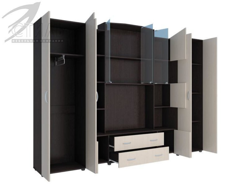 Гостиные: Мебель для гостиной Макарена - 8 (венге / дуб молочный) в Диван Плюс