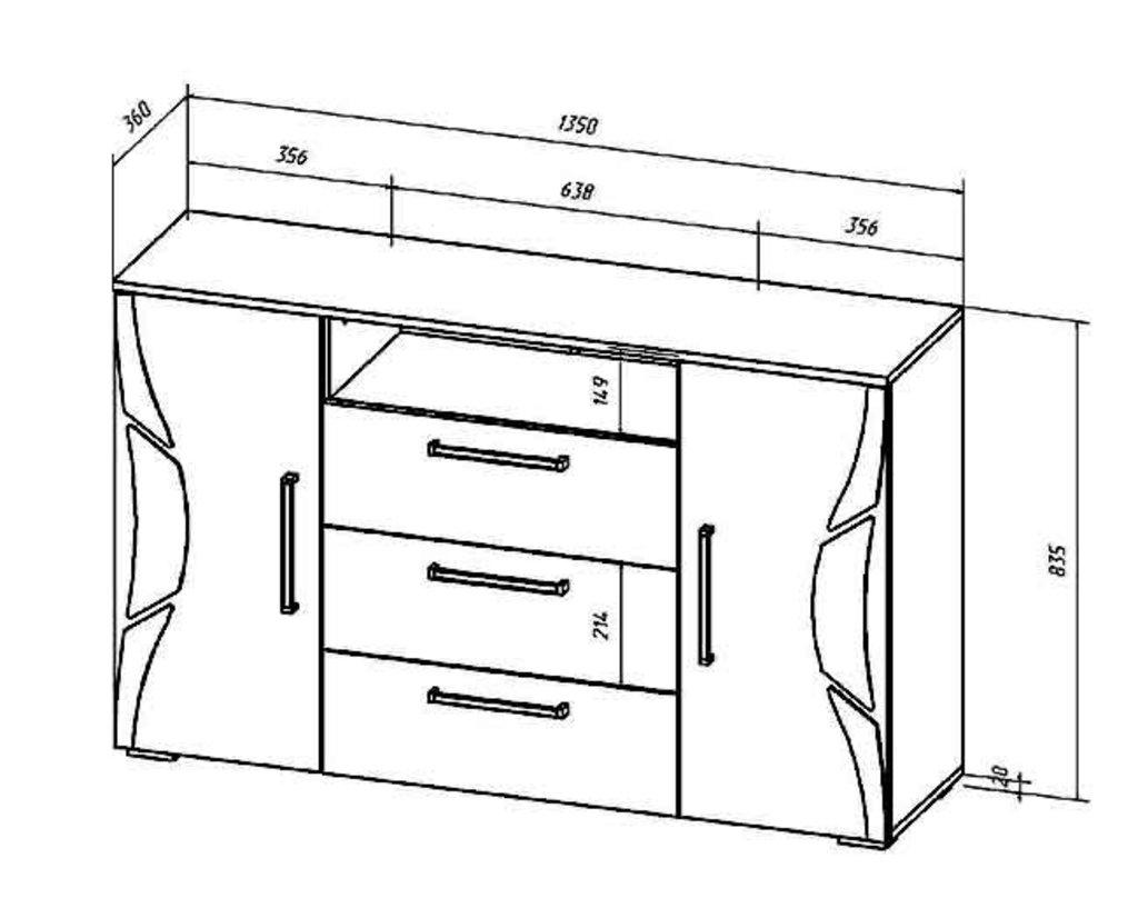 Комоды для дома: Комод Верона в Стильная мебель