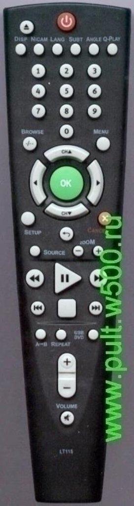 BBK: Пульт BBK LT 115 чёрный (TV-DVD комби) HUAYU в A-Центр Пульты ДУ
