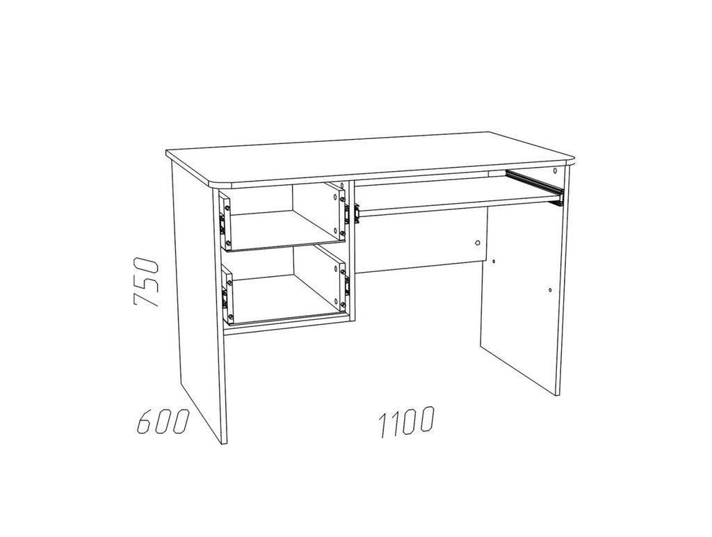 Компьютерные столы: Стол для компьютера НМ 009.19-05 ММ Рико-М в Стильная мебель