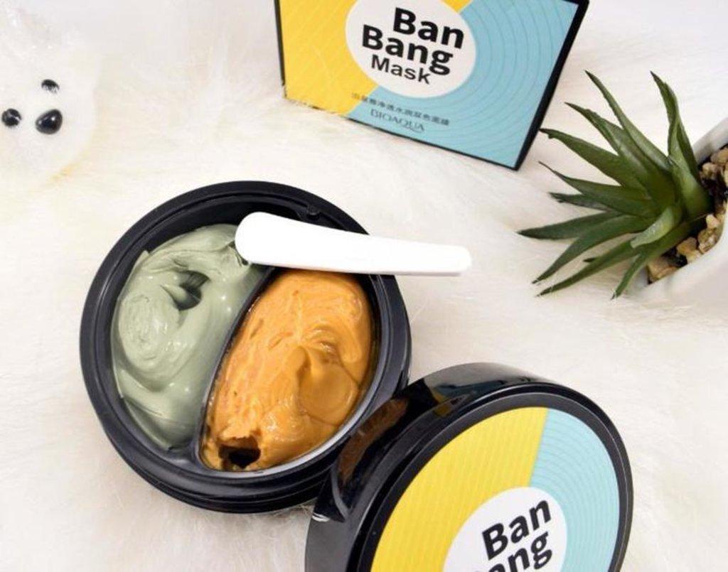 Маски: Двойная маска Ban Bang Mask  для очищения,увлажнения и питания кожи в Мой флакон
