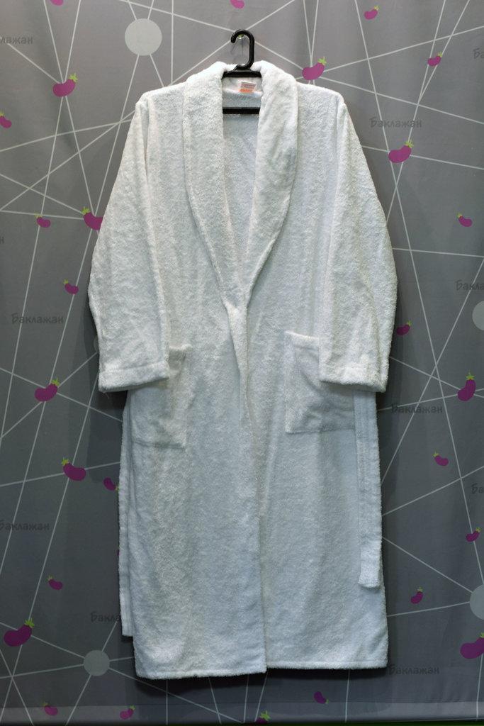 Махровые халаты: Халат махровый женский с воротником шалькой в Баклажан, студия вышивки и дизайна