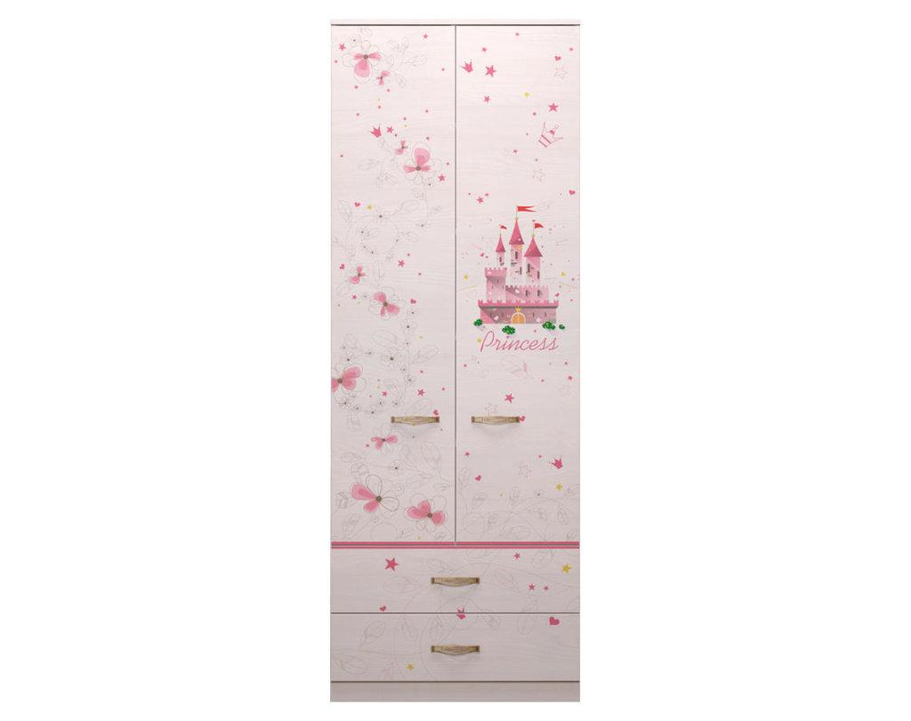 Детские шкафы и стеллажи: Шкаф для одежды с ящиками 20 Принцесса в Стильная мебель
