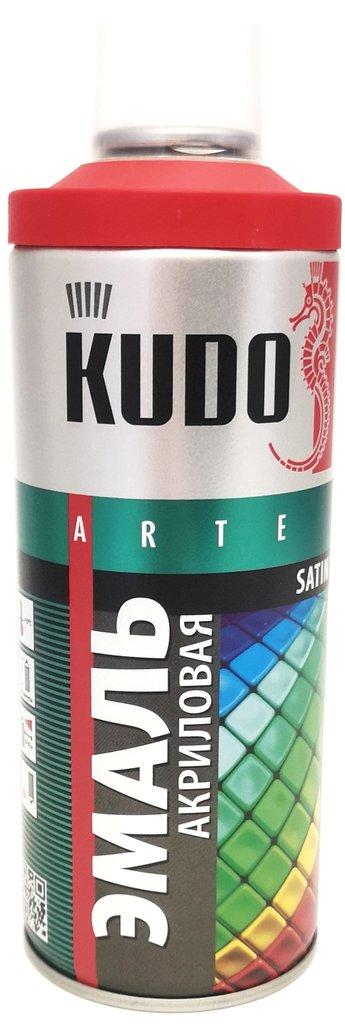 Универсальные: Краска-спрей акриловая KUDO алая RAL 3020 в Шедевр, художественный салон