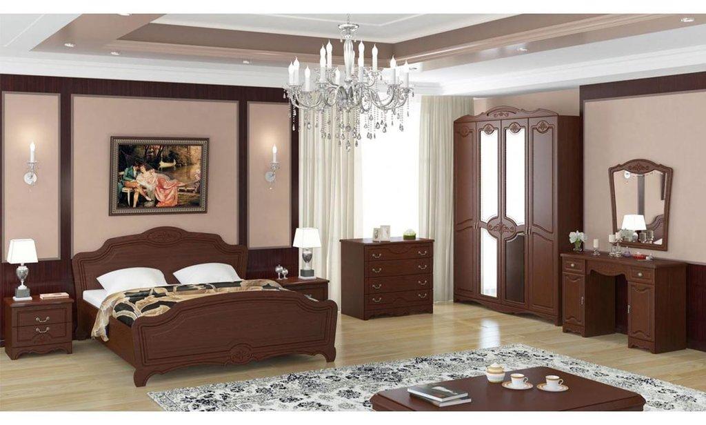 Спальный гарнитур Лотос: Шкаф ШР-4 Лотос, платье и бельё, 2 зеркала в Уютный дом