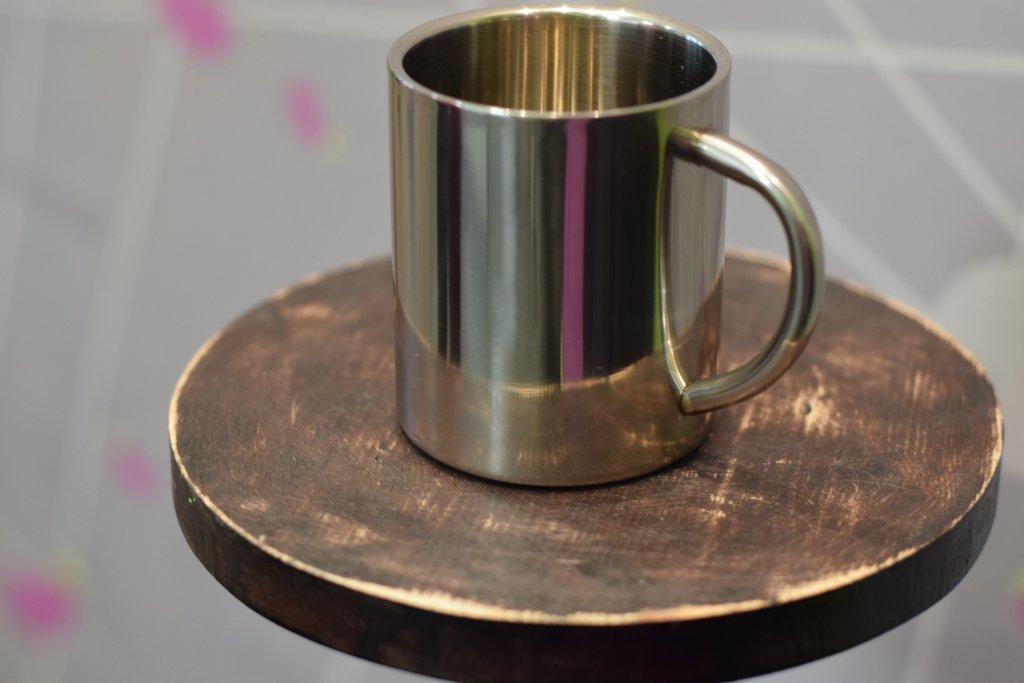 Чашки и кружки: Кружка металлическая, 300 мл в Баклажан, студия вышивки и дизайна