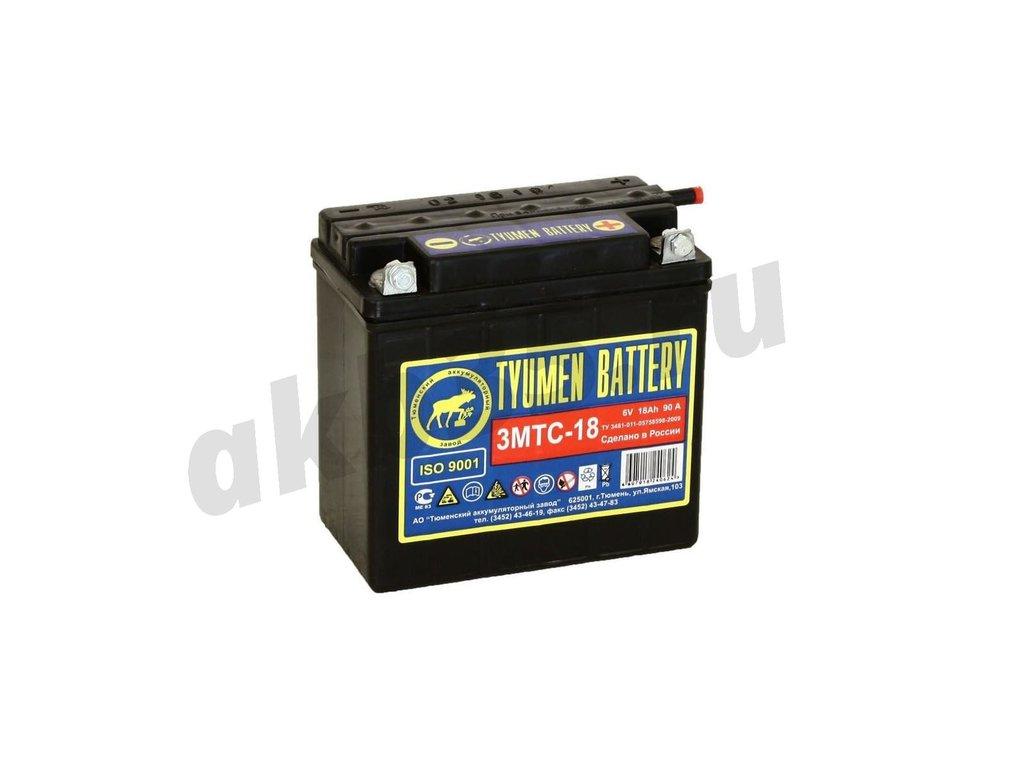 Аккумуляторы: Тюмень 3МТС-18 А/ч 6 Вольт Обратный ЛИДЕР в Планета АКБ
