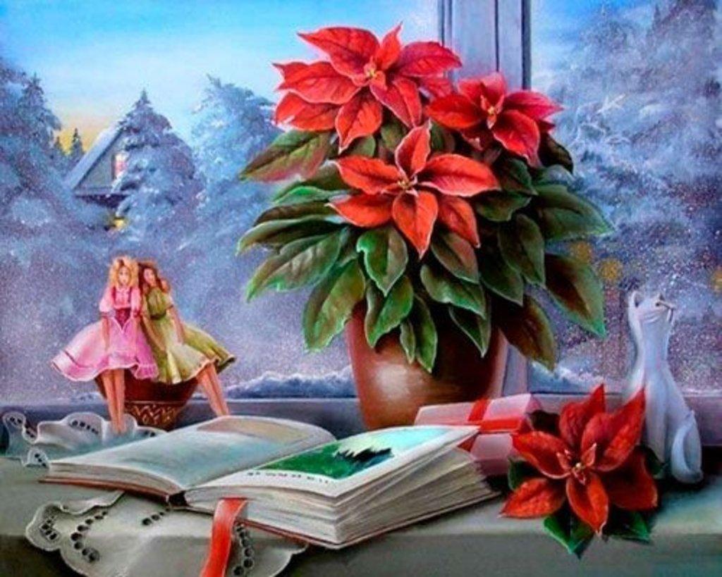 Картины по номерам: Картина по номерам Paintboy 40*50 Зимний вечер за окном GX24737 в Шедевр, художественный салон
