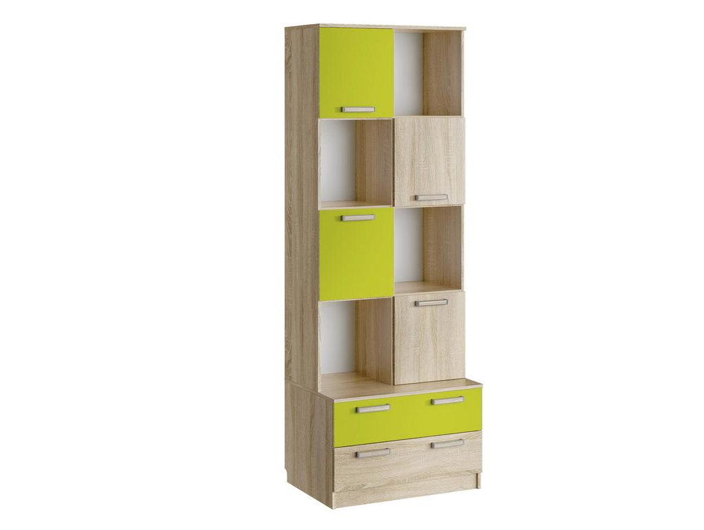 Детские шкафы и стеллажи: Шкаф для книг НМ 013.10 Акварель в Стильная мебель