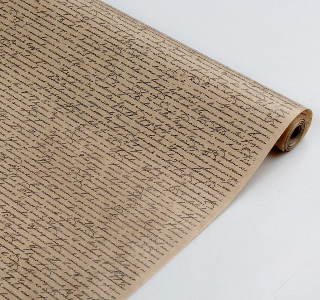 "Упаковочная бумага: Бумага упаковочная крафт ""Рукопись"" 0,7 х 10 м в ТортExpress"