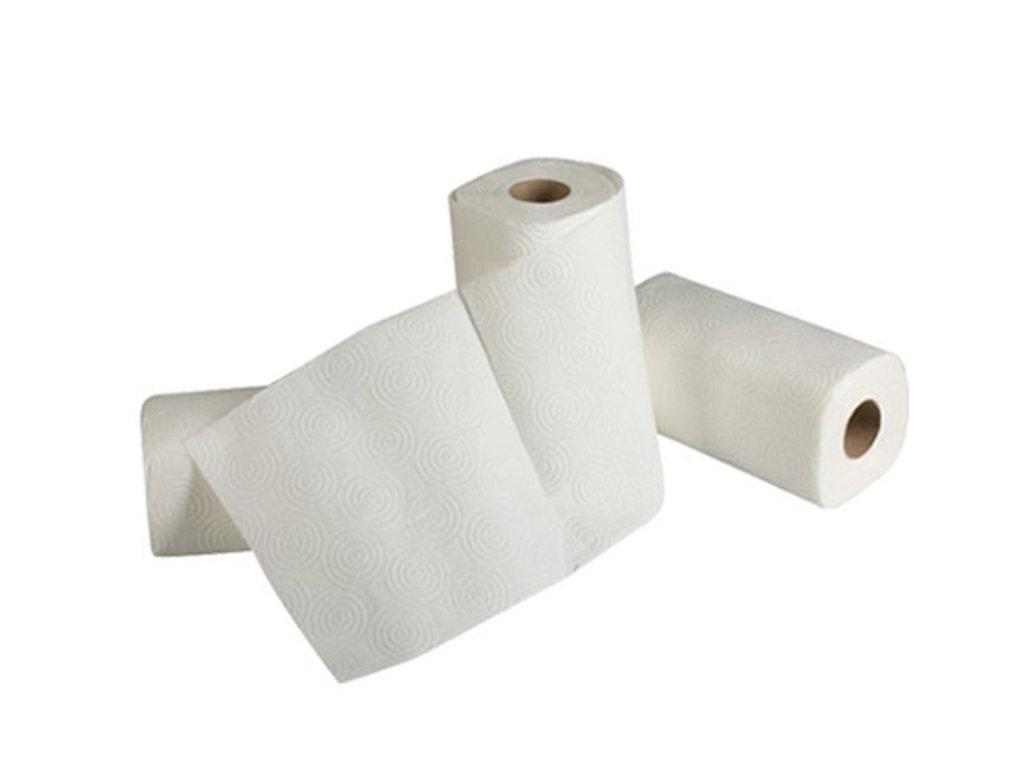 Туалетная бумага, салфетки и др.: Полотенце бумажное Moris белое 2рул/упак 10уп/кор в Чистая Сибирь