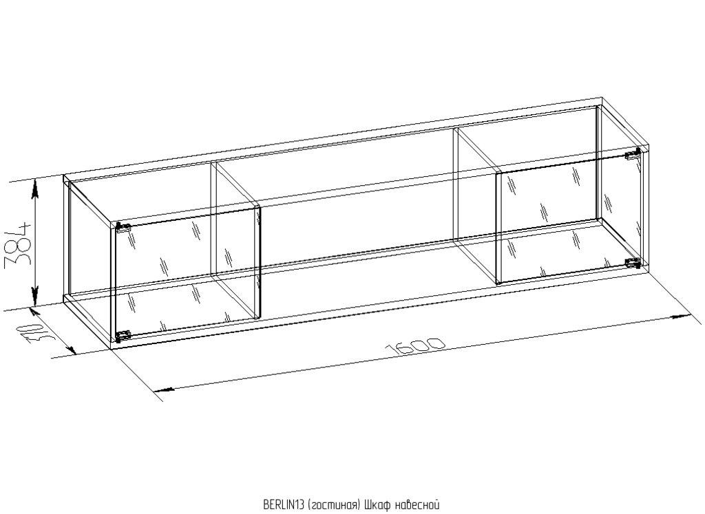 Шкафы, общие: Шкаф навесной BERLIN 13 в Стильная мебель