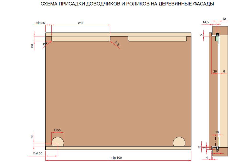 """Мебельная фурнитура """"НОВИНКИ"""": Комплект фурнитуры для 1 фасада до 60 кг (глухой/вкладной) с доводчиками в МебельСтрой"""