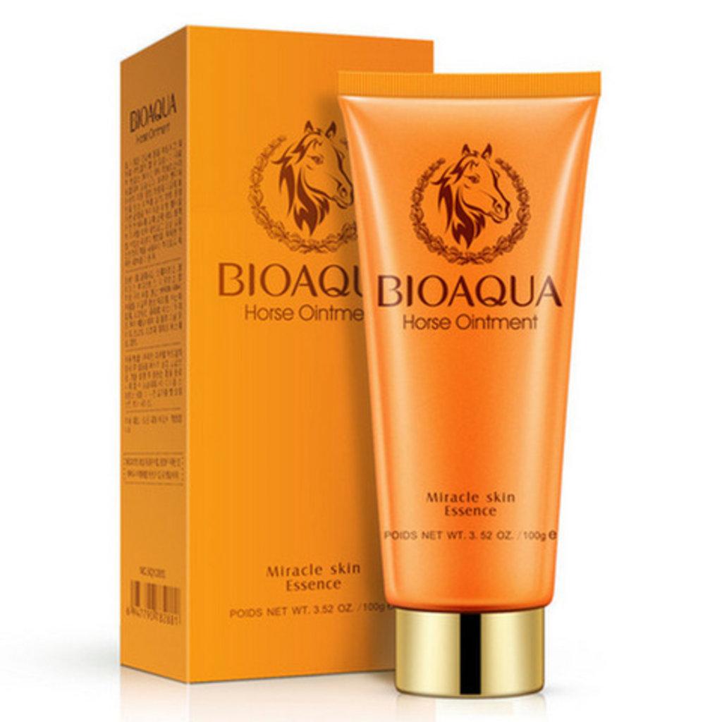 Средства для очищения кожи: Пенка для умывания с лошадиным жиром Bioaqua Horse Ointment в Мой флакон