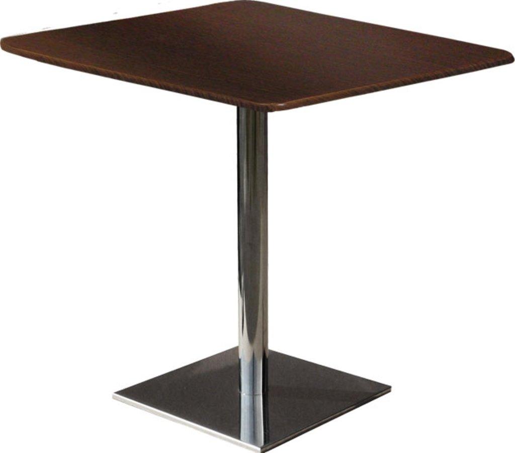 Столы для ресторана, бара, кафе, столовых.: Стол квадрат 78х78, подстолья 1074 ЕМ нержавейка (матовое) в АРТ-МЕБЕЛЬ НН