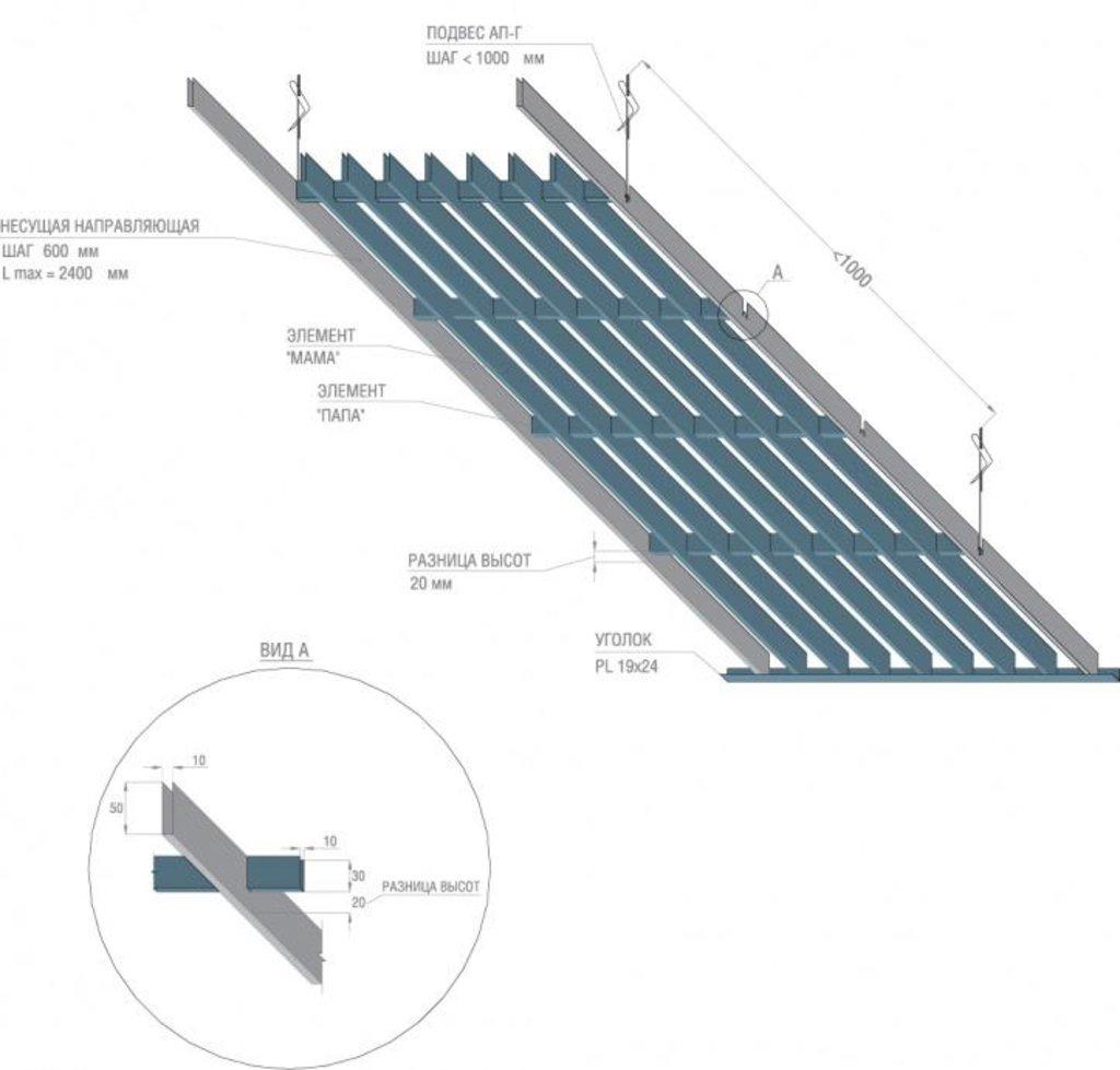 Потолки грильято: Грильято жалюзи 300х200 белый матовый А902rus в Мир Потолков