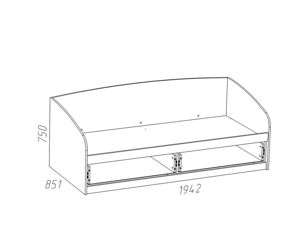 Детские и подростковые кровати: Кровать НМ 008.63-01 Прованс (800x1900, усилен. настил) в Стильная мебель