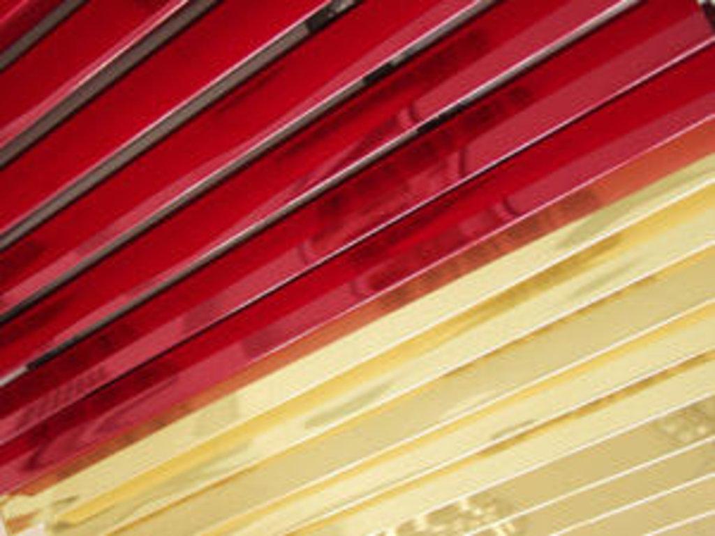 Реечные потолки: Рейка A40V хром A740 золото A111 в Мир Потолков