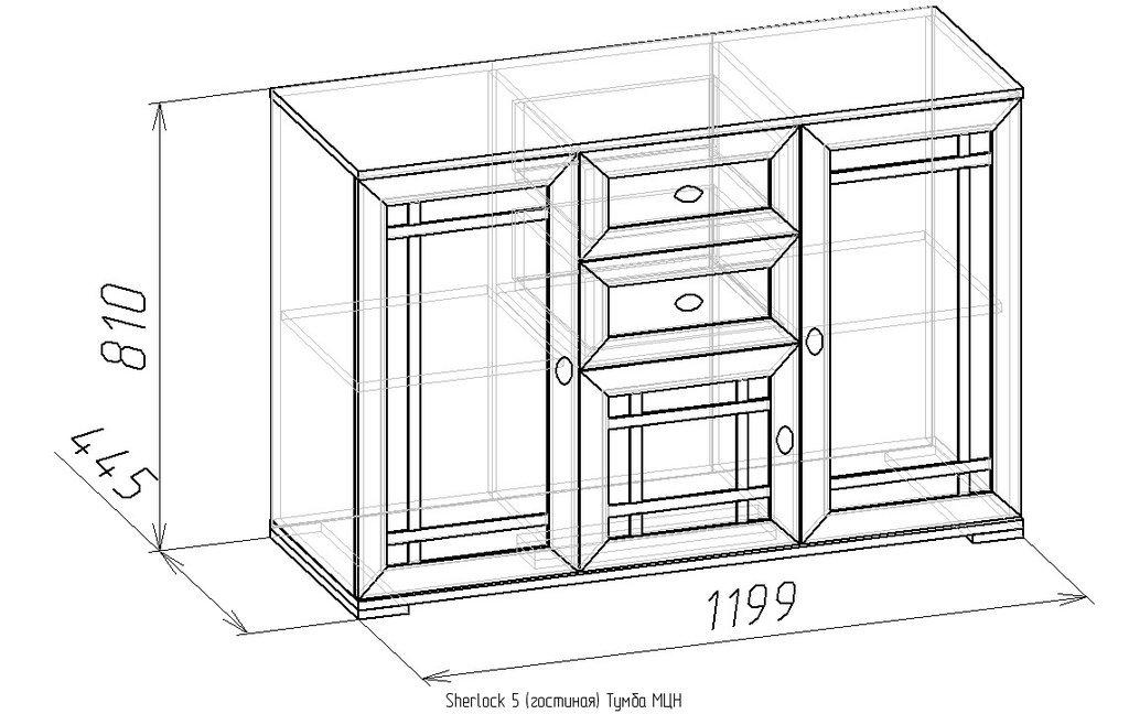 Этажерки и тумбы: Тумба МЦН Sherlock 5 в Стильная мебель