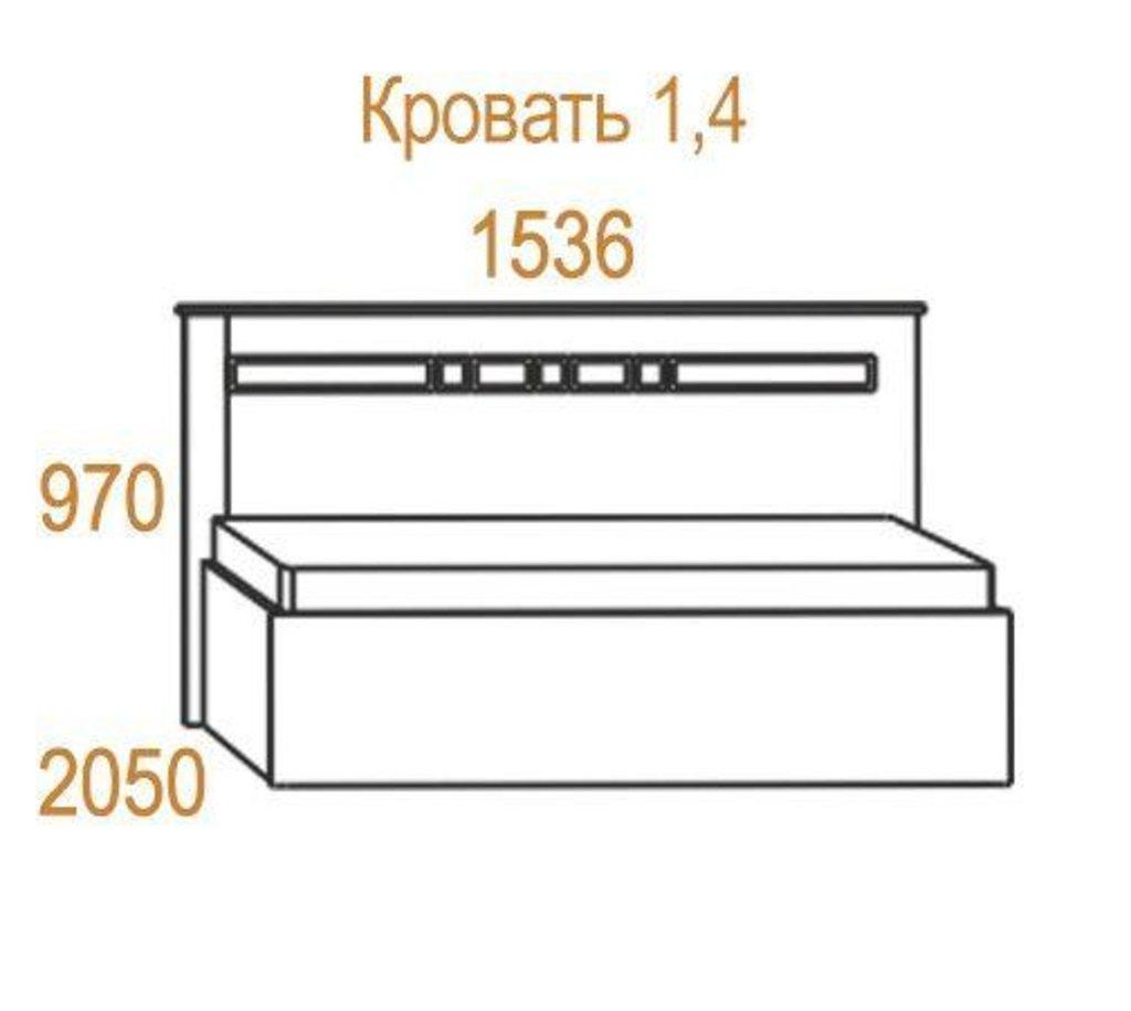 Кровати: Кровать Николь (1400, мех. подъема) в Стильная мебель