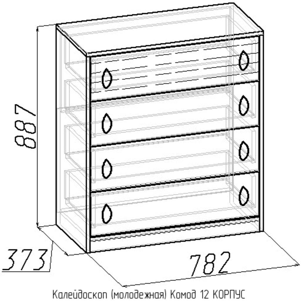 Комоды детские: Комод Калейдоскоп 12 в Стильная мебель