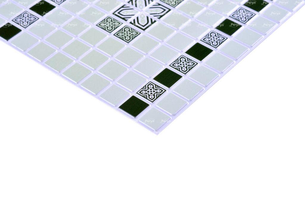 Панели ПВХ: Мозаика Орнамент зеленый в Мир Потолков