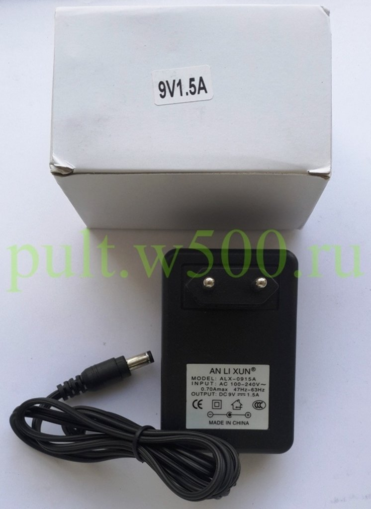 Блоки питания импульсные: Блок питания импульсный   9В 1,5А штекер 2.5*5.5 в розетку   ( ANLIXUN ALX-0915 ) коробка в A-Центр Пульты ДУ