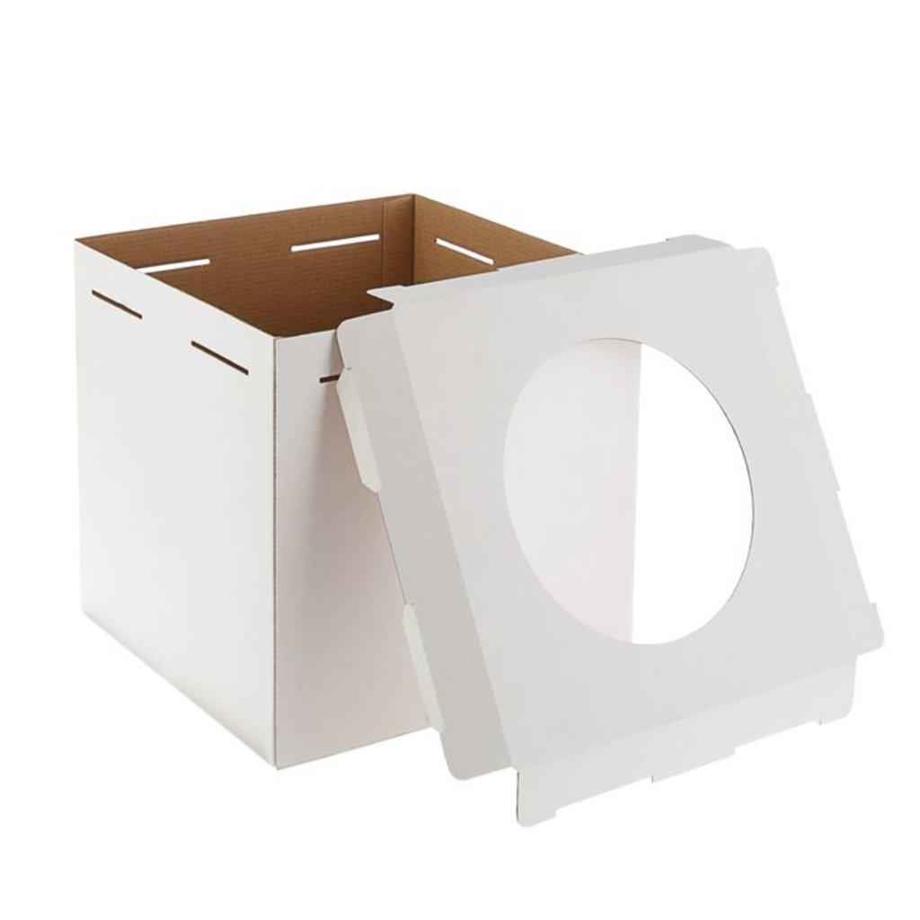Коробки для тортов: Короб  с окном   420х420х450мм в ТортExpress