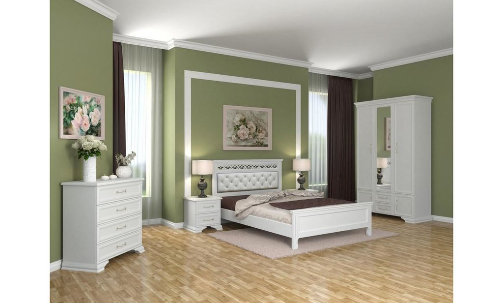 Спальный гарнитур Грация (лак): Тумба Грация (лак) 2 ящика в Уютный дом