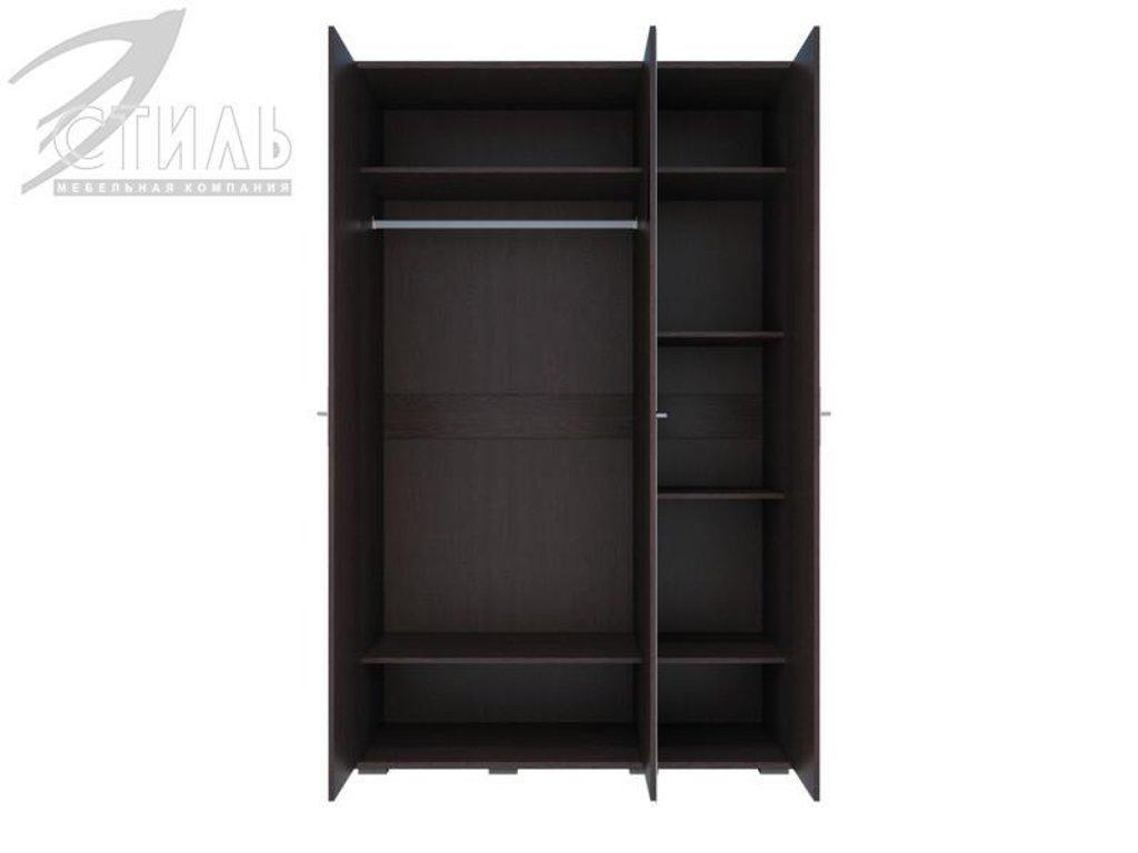 Мебель для спальни Луиза (венге / белый глянец): Шкаф трехстворчатый Луиза (венге / белый глянец) в Диван Плюс