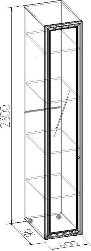 Шкафы для одежды и белья: Шкаф для белья PAOLA 55 (Зеркало лев.) в Стильная мебель