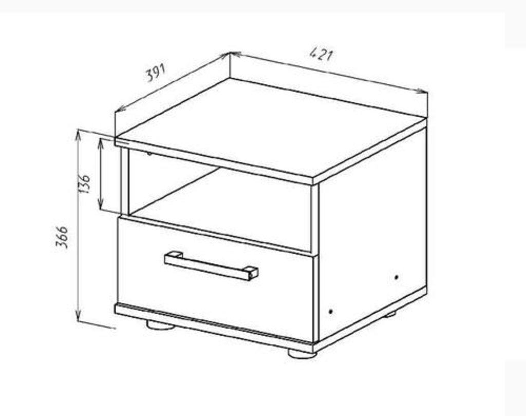 Мебель для спальни  Венеция. Модульная серия.: Тумба прикроватная Венеция в Уютный дом
