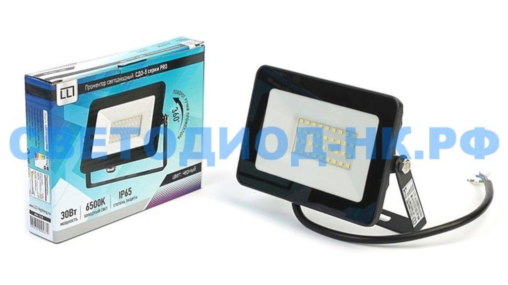 Светодиодные прожекторы: Прожектор светодиодный СДО-5-30 серии PRO 30Вт 230В 6500К 2850Лм IP65 LLT в СВЕТОВОД