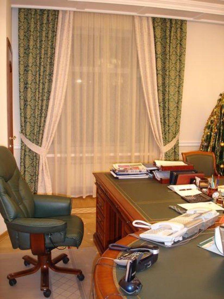 Шторы, портьеры: Шторы для кабинета в Декор окна, салон